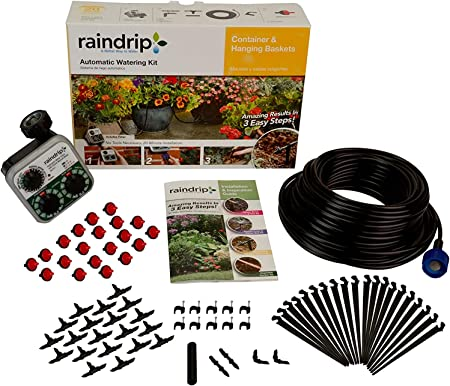 Raindrip Automatic Watering Kit for Container and Hanging Baskets - Best System For Baskets