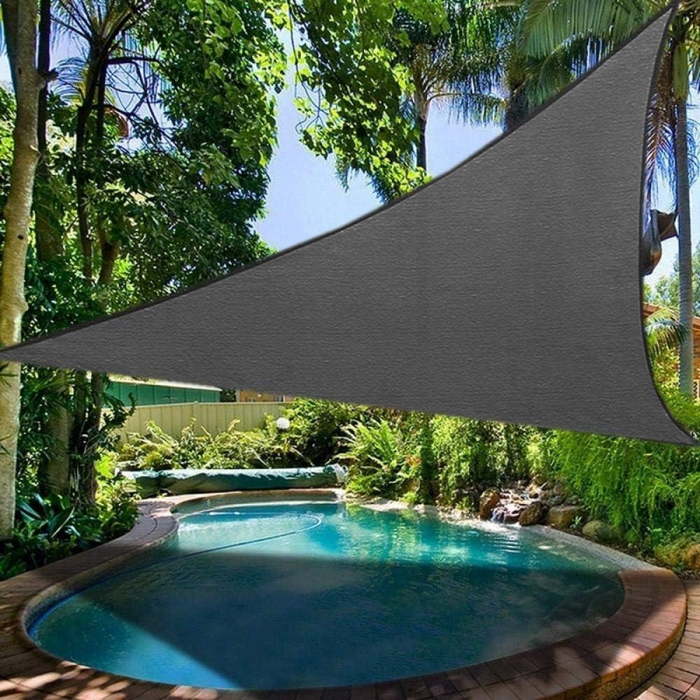 Parasole impermeabile grigio scuro a triangolo regolare, copertura UV per esterni, giardino, patio, piscina, vela, tenda da campeggio 4,5 x 4,5 x 4,5 m. 4 X 4 M