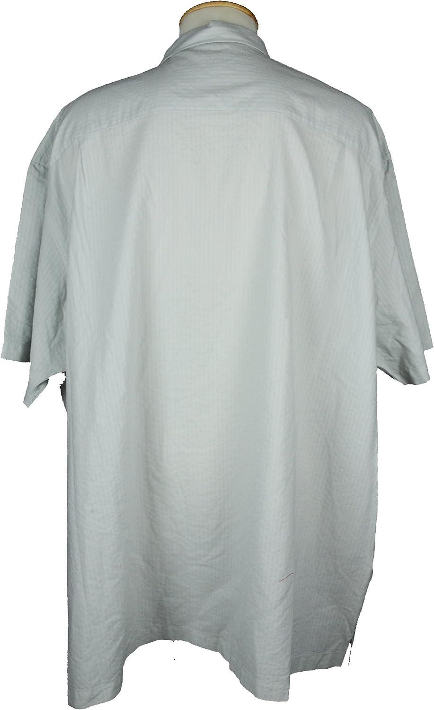 Van Heusen Mens Pucker Cord Short Sleeve Button Down Shirt 4XLT