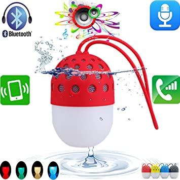 Portable Audio & Headphones United Qube 2 Universal Bluetooth Pocket Speaker Red Drip-Dry