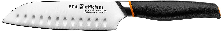 Bra Efficient Cuchillo Santoku, Acero Inoxidable, Gris, 3x4x30 cm