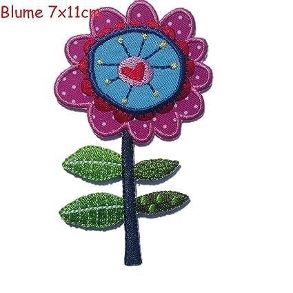 TrickyBoo Flor 7X11Cm Bordados Apliques Infantiles Bebé Termoadhesivo Parches Rosa Religión cuchara l bebé Alto Renacimiento
