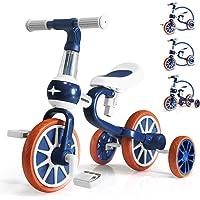 KORIMEFA Triciclos para Niños 4 en 1 Triciclos Bebes Triciclos evolutivos Bicicleta Bebe Triciclo Bicicleta para Niño y…