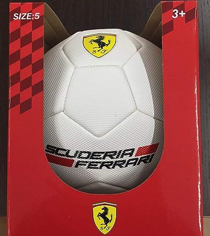 Mesuca Ferrari 950221, balón de PVC Unisex niños, Rojo/Amarillo ...