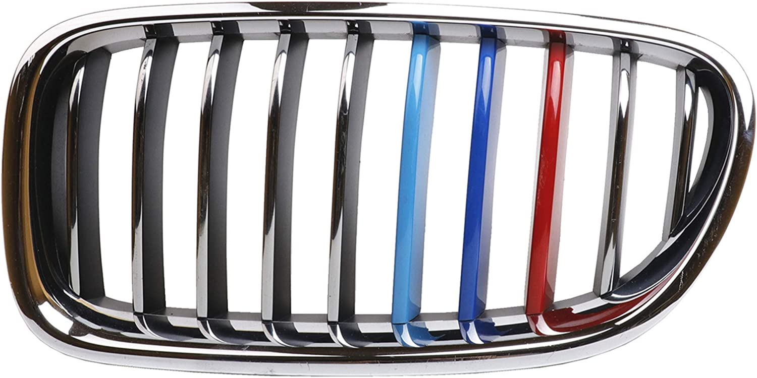 Jackey Awesome Exact Fit //////M-Colored Grille Insert Trims For 2009-2012 BMW E90 E91 3 Series 325i 330i 335i 328i Regular Kidney Grill For BMW 2009-2012 3 Series,12 Beams