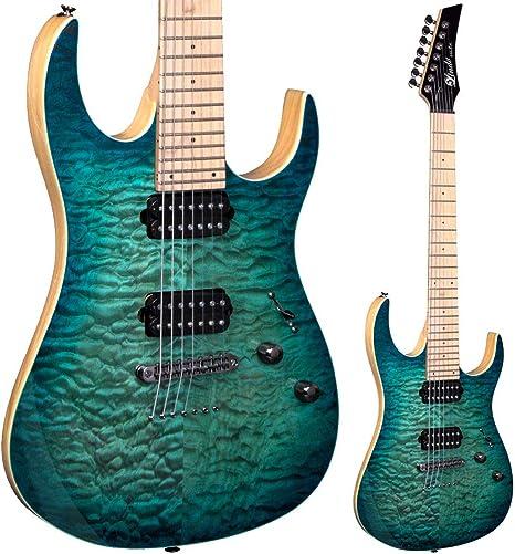 Lindo LDG- Guitarra eléctrica con mástil arce de 7 cuerdas ...