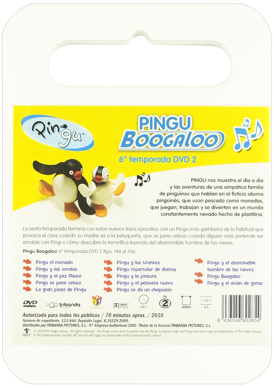 Amazon.com: Pingu 6ª Temp. - Pingu Boogaloo Dvd 2 [Import ...
