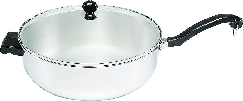 Farberware 70097 Classic Series Stainless Steel Jumbo Covered Chef's Pan, 6-Quart, Medium,