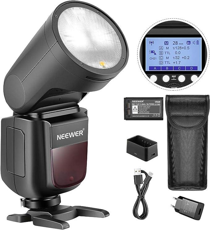 Neewer V1 S Blitzgerät Für Sony Dslrs Kamera 76 Ws 2 4 G Ttl Rundkopf 1
