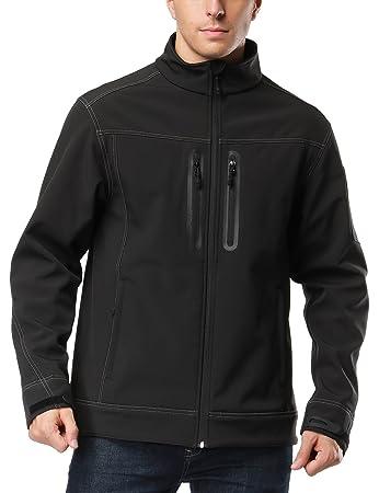 Amazon.com: MIER Men's Softshell Jacket Water/Wind Resistant ...
