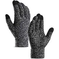 DZRZVD Winter Warm Touchscreen Gloves for Women Men Knit Wool Lined Texting