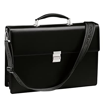 f2381630fb Amazon.com: Montblanc Meisterstuck Double Gusset Briefcase in Black: Office  Products