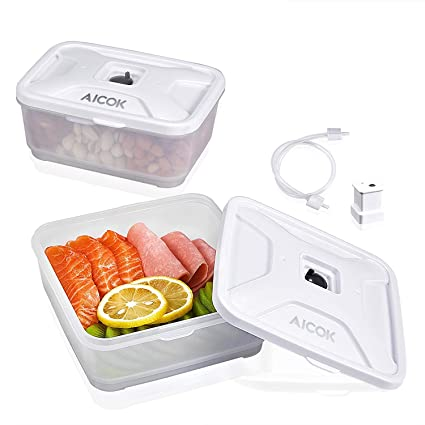 Superbe Food Storage Container Compatible With All Most Of Vacuum Sealers(Such As  FoodSaver, NutriChef