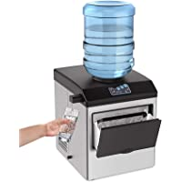 SOUKOO 2 in 1 Water Ice Maker, 48lbs Daily Ice Cube Makers,Stainless Steel Ice Makers Countertop,Tabletop Ice Maker…