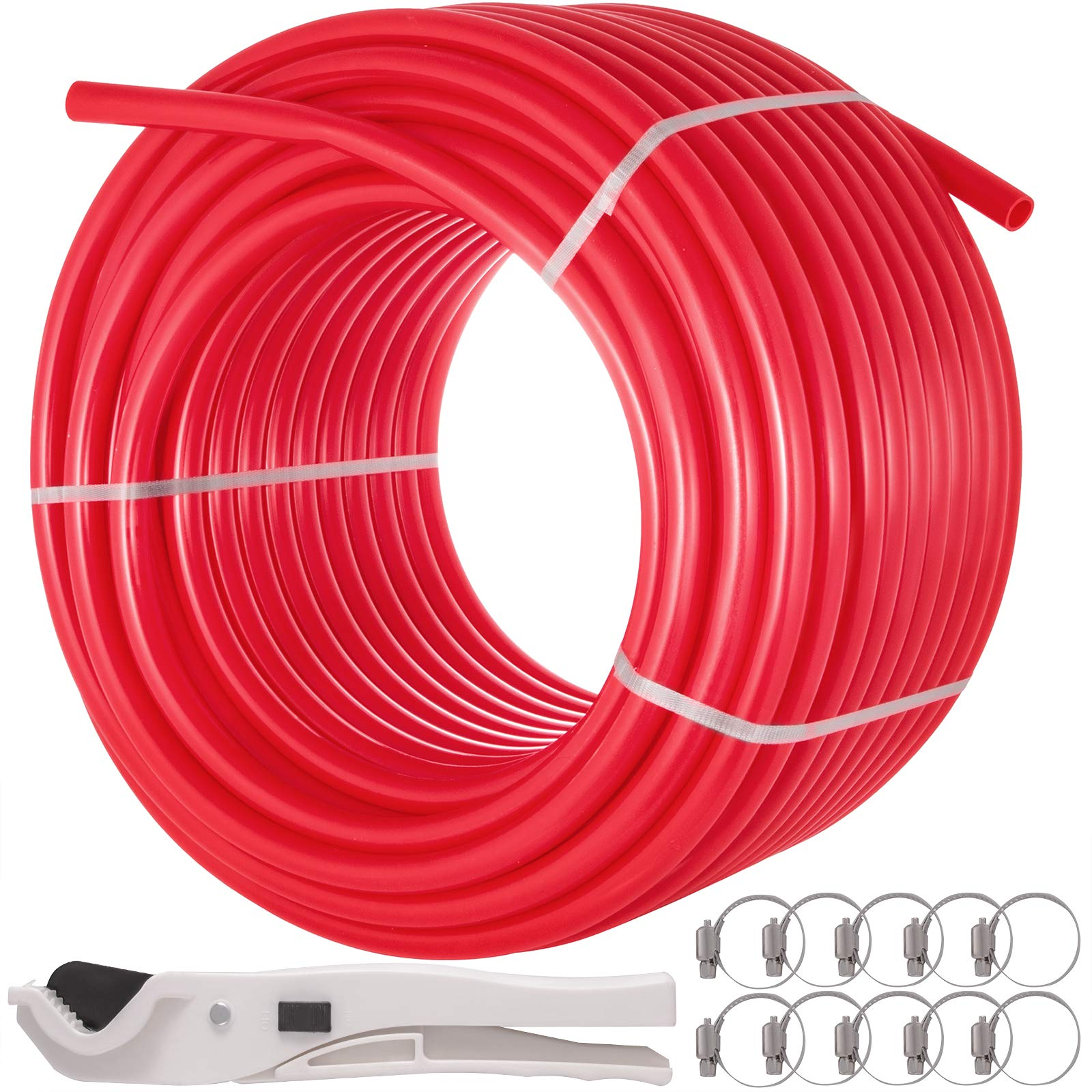 Happybuy 1 Inch X 300ft PEX Tubing Pipe Oxygen Barrier EVOH Anti-corrosion Cold Hot Water Durable for Residential Commercial Radiant Floor Heating PEX Pipe by Happybuy