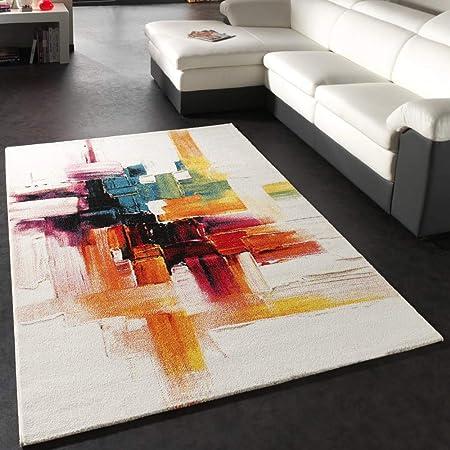 Paco Home Alfombra Diseño Salón Colores Originales Cuadros