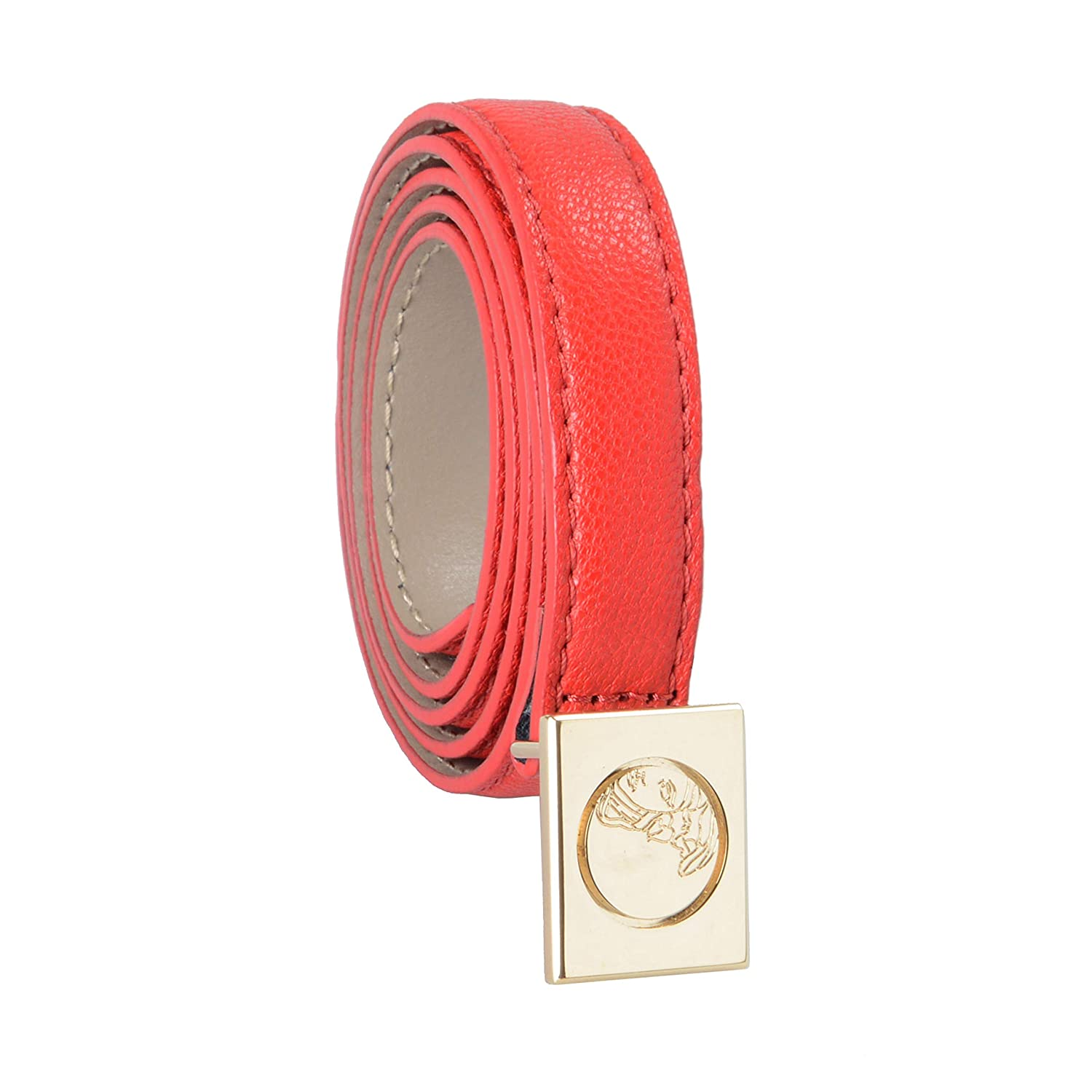 Versace Collection 100% Leather Red Women's Belt US 85 IT 100