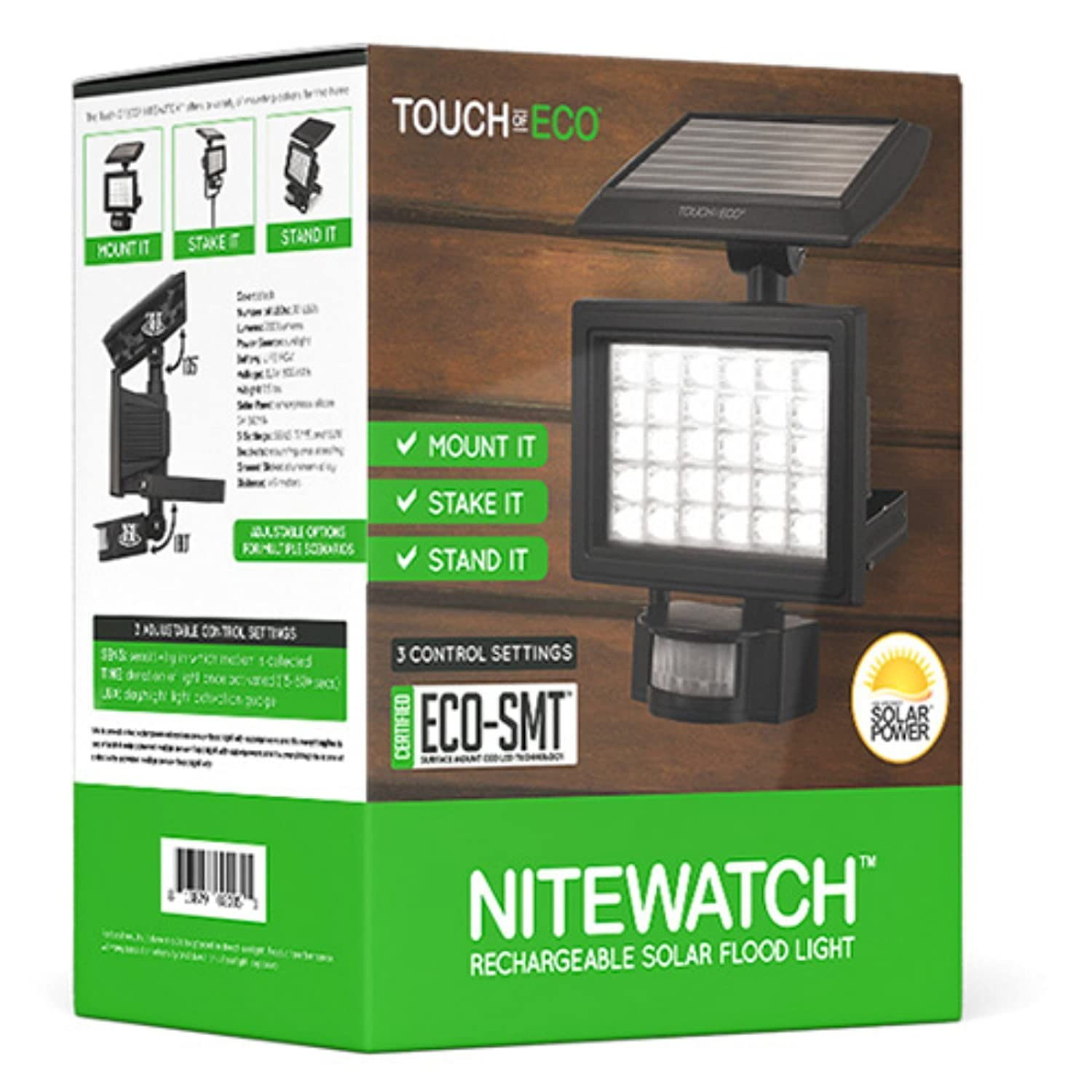 Touch Of Eco Toe047 Nitewatch Solar 30 Led Flood Light Black Build A Powered Outdoor Floodlight Dti