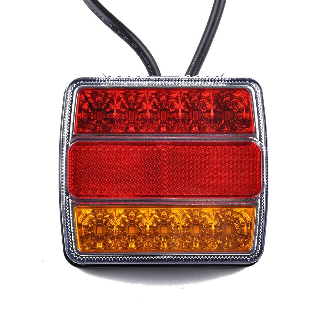 Uzinb 1 par 12V remolques de Camiones o Zona de LED luz Trasera Luz Trasera se/ñal de Vuelta Indicador de Parada del Freno luz de la l/ámpara Posterior del rev/és