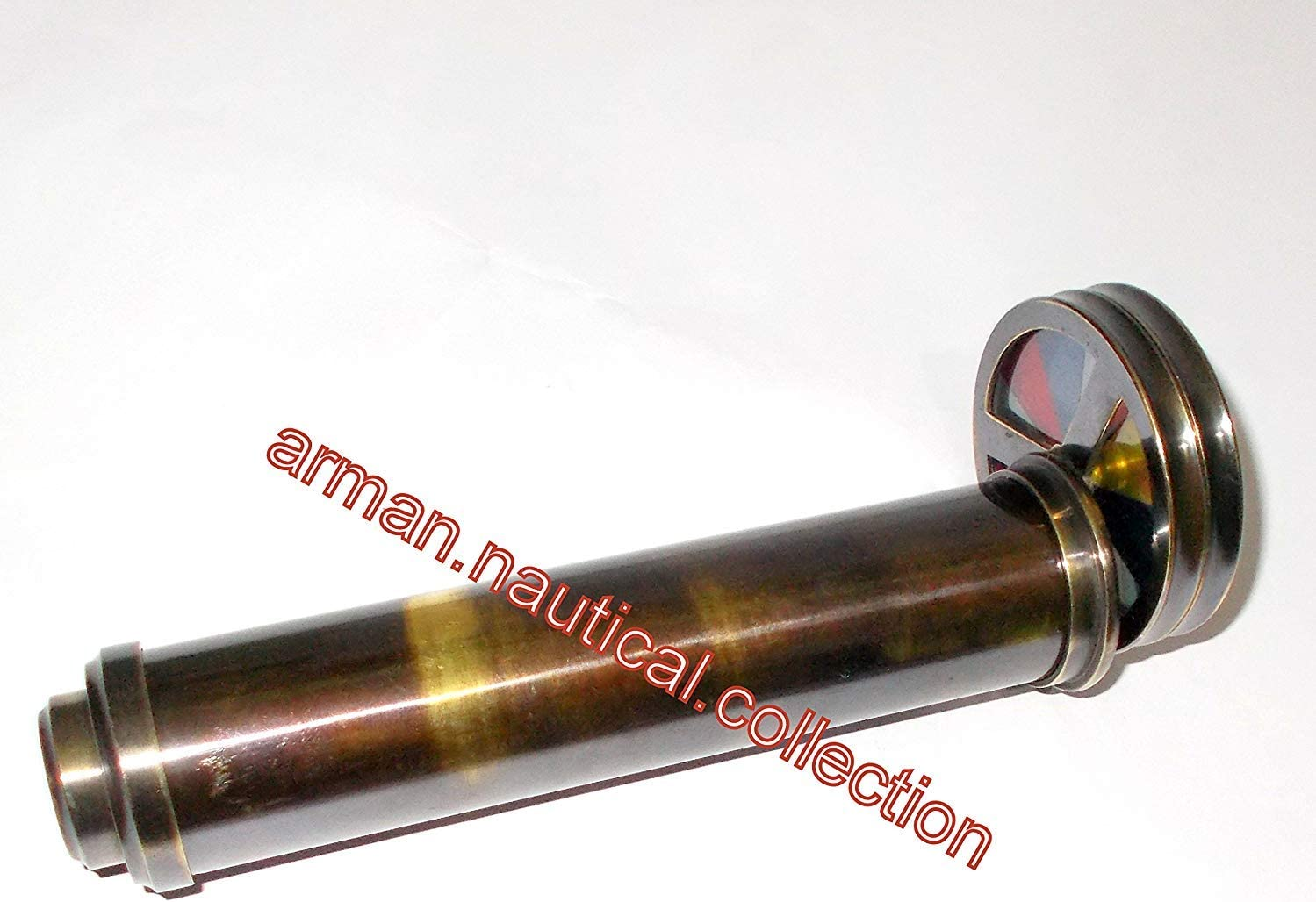 nautical gifts shop COLLECTIBLES Brass Double Wheel Kaleidoscope VINTAGE ITEM GIFT BRASS TELESCOPE b