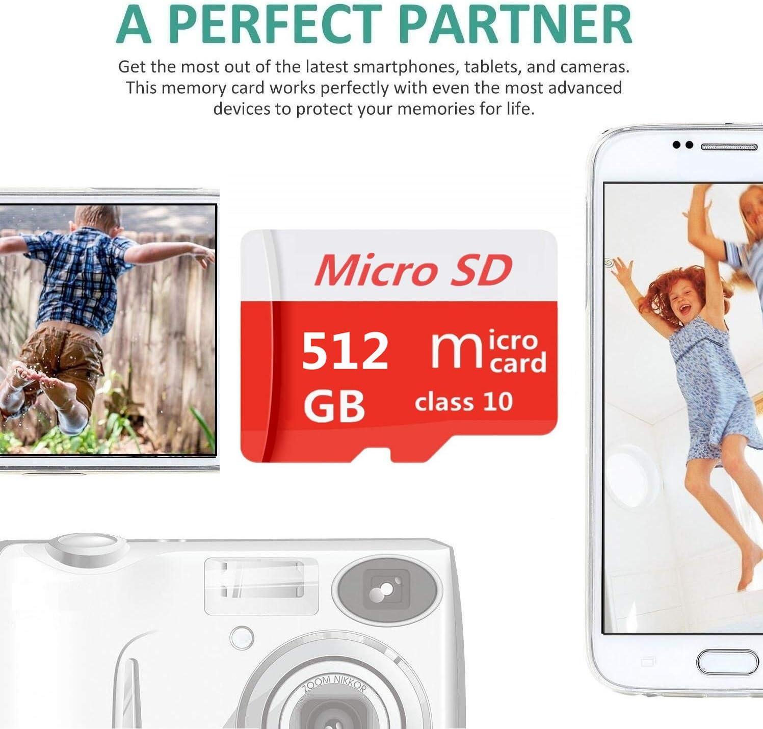 Tarjeta Micro SD 256 GB, 512 GB, 1024 GB, clase 10, micro SD, SDXC, incluye adaptador incluido 1024GB Genericce