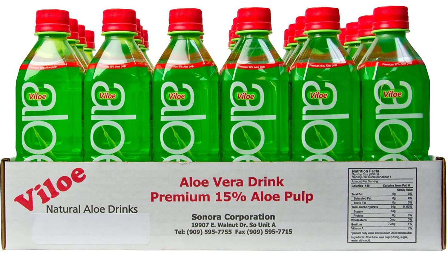 Amazon.com : Viloe Aloe Vera Drink, 16.9 Ounce (Pack of 24) : Grocery & Gourmet Food