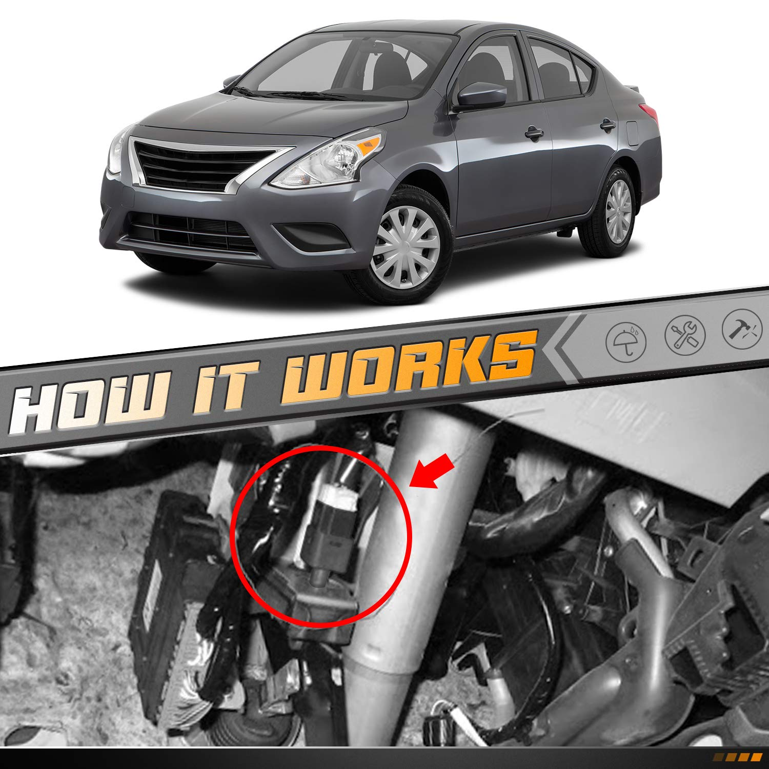 HERCOO Brake Light Switch Compatible with Nissan Altima Rogue ...