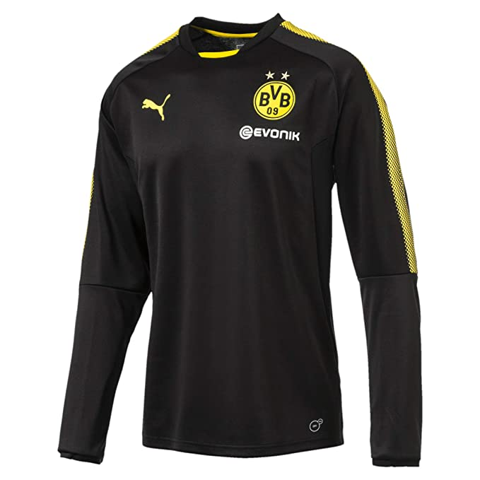 PUMA Kinder BVB Training Sweat with Sponsor Logo Mantel