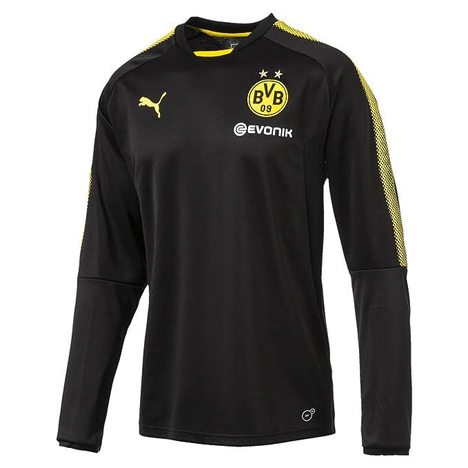 best loved cb9d5 1a52f Puma Men's Borussia Dortmund Training Sweat With Sponsor Logo Coat, Men,  BVB Training Sweat with Sponsor Logo