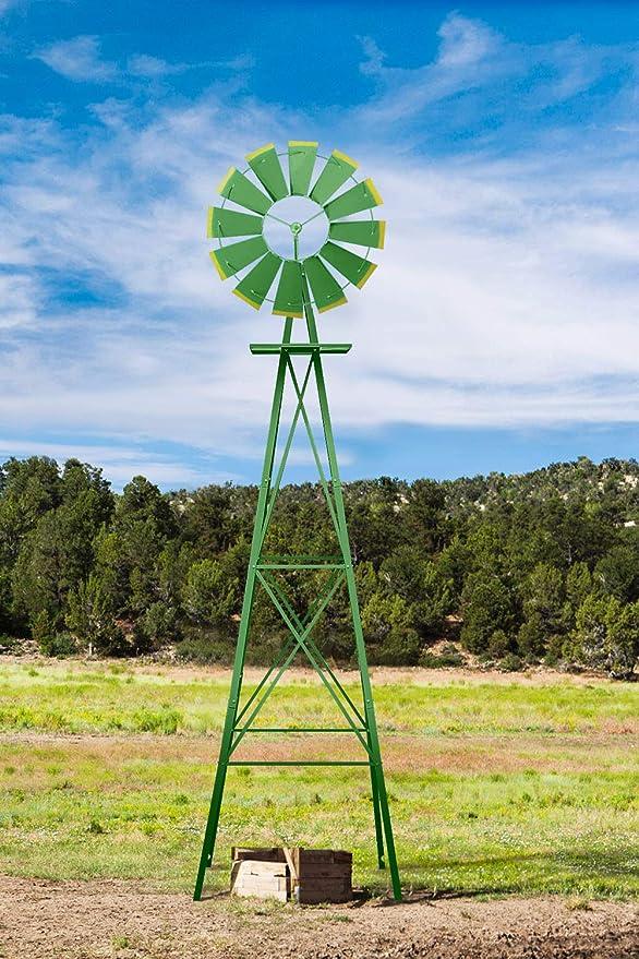 MORCOE Heavy-Duty Metal Ornamental Windmill