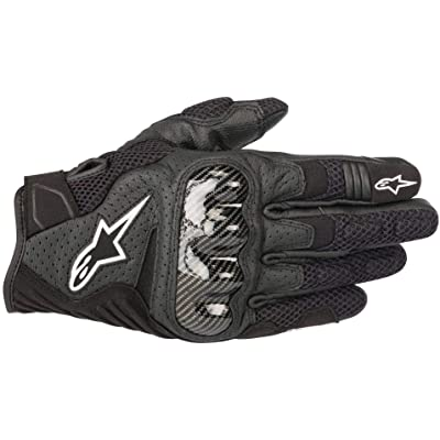 Alpinestars Men's SMX-1 Air v2 Motorcycle Riding Glove, Black, Large: Automotive