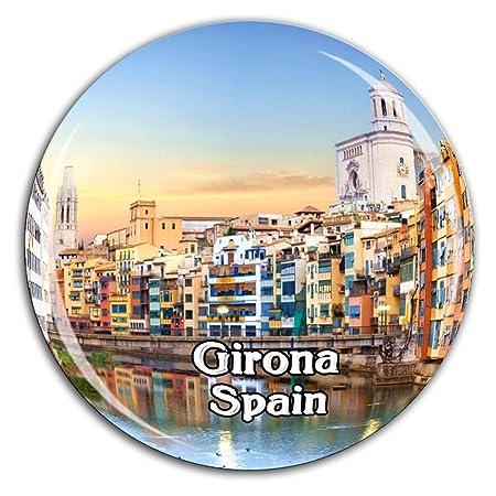 Weekino Girona España Imán de Nevera Cristal de Cristal 3D Ciudad ...