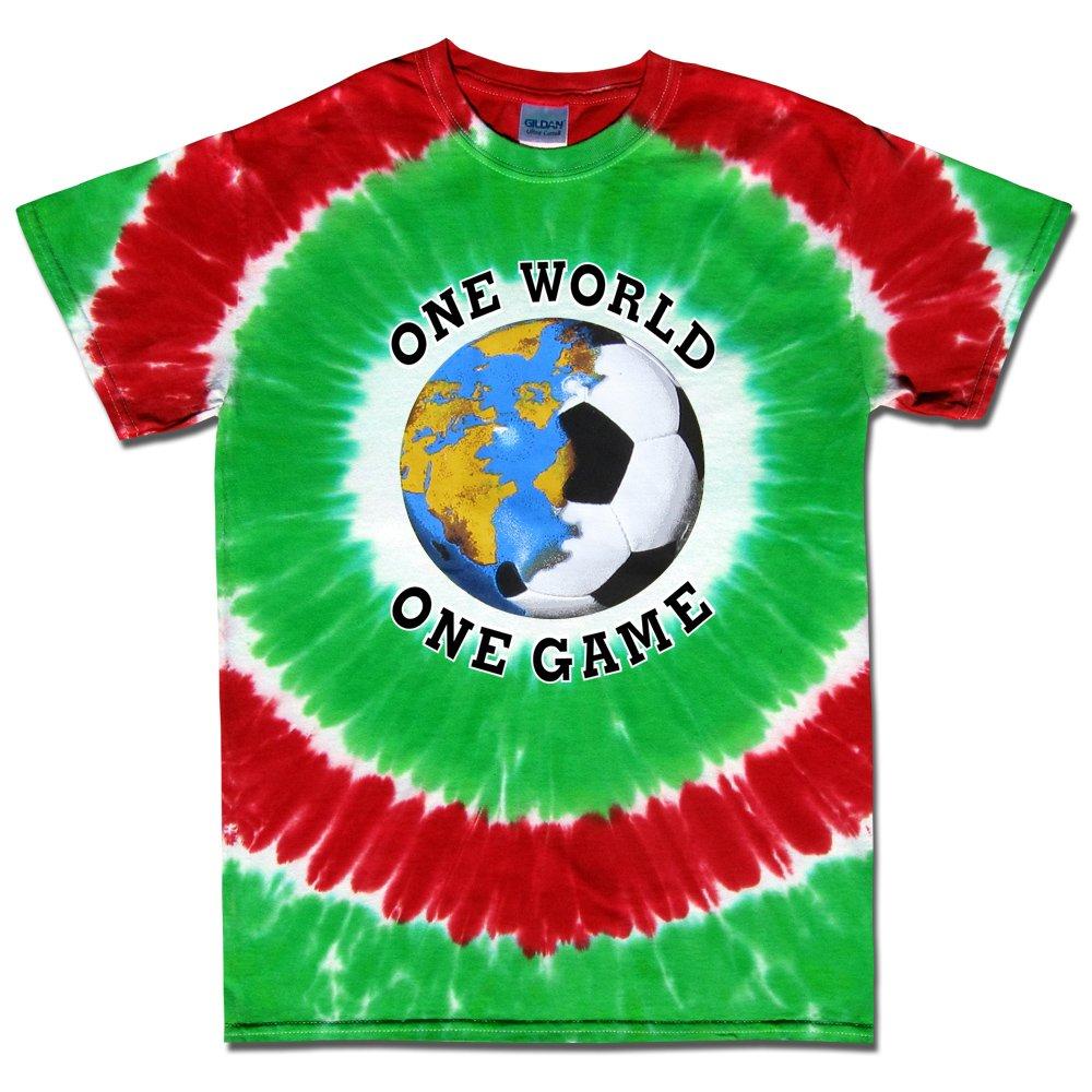 サッカーt-shirt-one世界Tie dye-mexico B076H8GXDC Youth Medium|White, Green, Red White, Green, Red Youth Medium