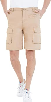 Fengbay Cotton Casual Stretch Cargo Multi Pocket Mens Shorts