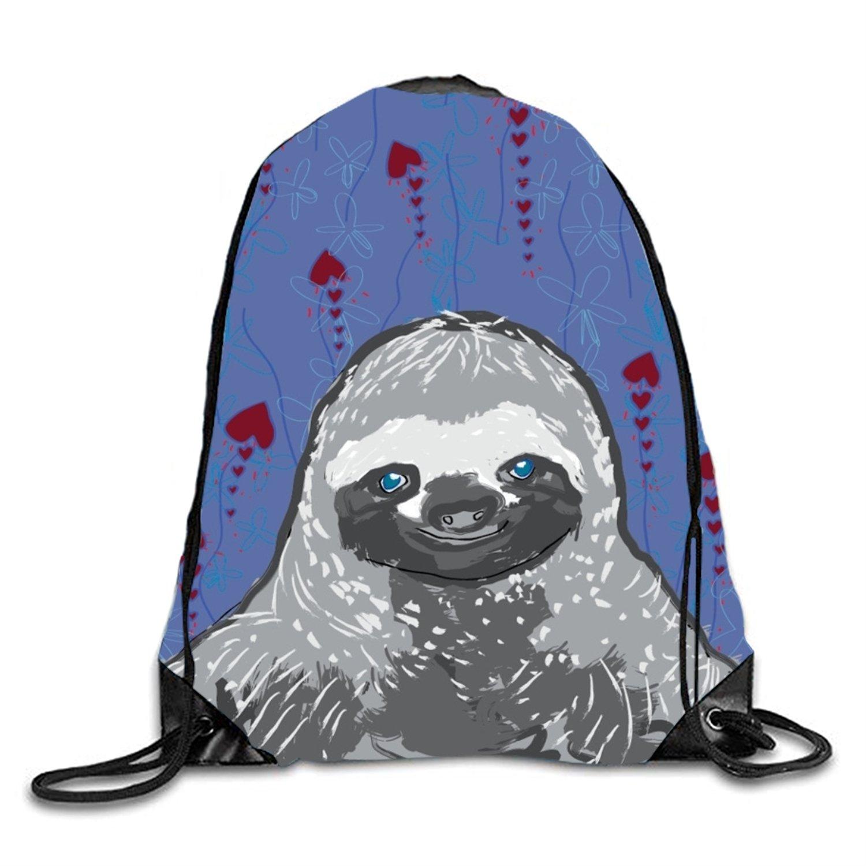 Drawstring Backpack Bag Sloth Fine Art Men & Women Yoga Dance Travel Shoulder Bags by Manxiky (Image #1)