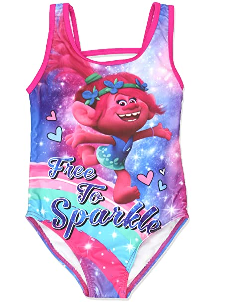 cfb5cbc4826af Amazon.com: Trolls Girls Swimwear Swimsuit (Toddler/Little Kid ...
