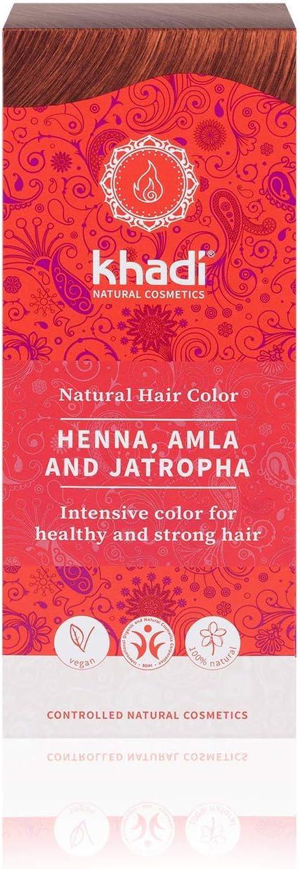 Khadi Henna Natural con Amla y Jatropha 100Gr - 1 unidad