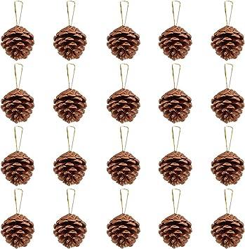 Christmas Tree Toys Rustic Christmas Vintage Natural Pine Cones Gold Pine Cones Christmas Tree Decor Christmas Pine Cones