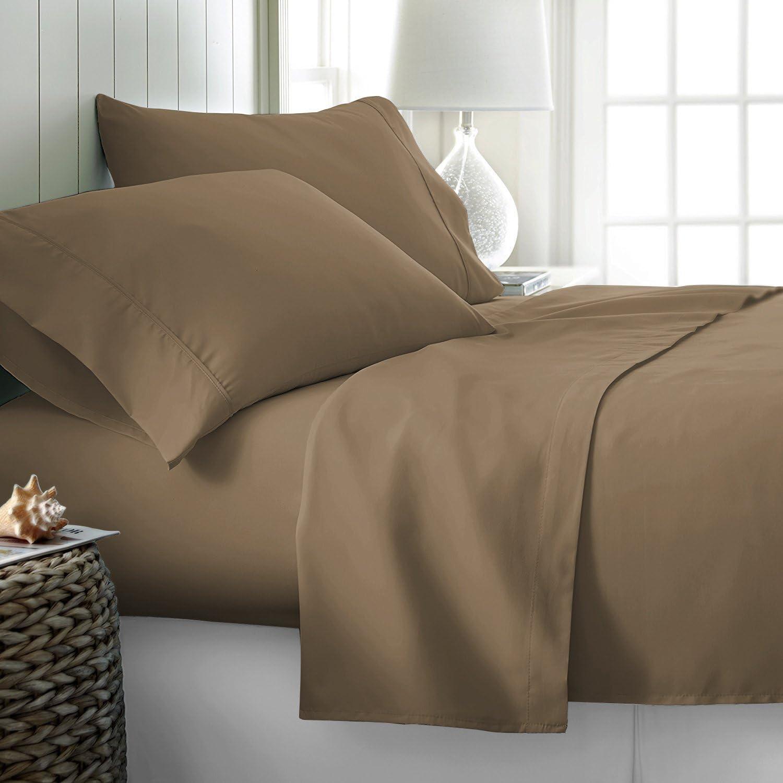 4 St/ück California King taupe Mayfair Linen Bettlaken-Set aus 100 /% /ägyptischer Baumwolle Fadenzahl 1000