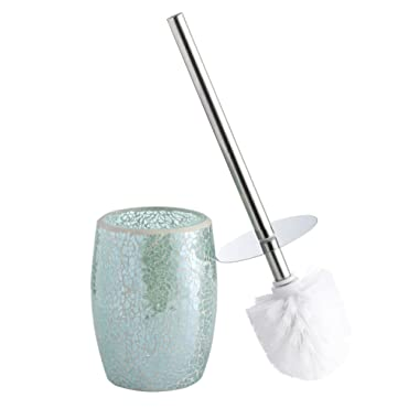 Whole Housewares Bathroom Accessories Toilet Brush Set - Toilet Bowl Cleaner Brush and Holder (Teal Blue)