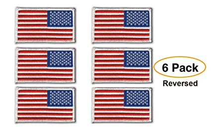 Amazon.com  6 Pack - REVERSED American Flag Embroidered Patch fbf5f2e8854