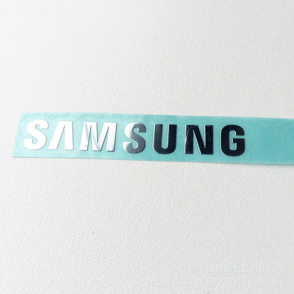 Wallner Adhesive Samsung Logo Sticker Metal Sticker Metal Plate Cellphone Sticker for Cell Phone Laptop and Others