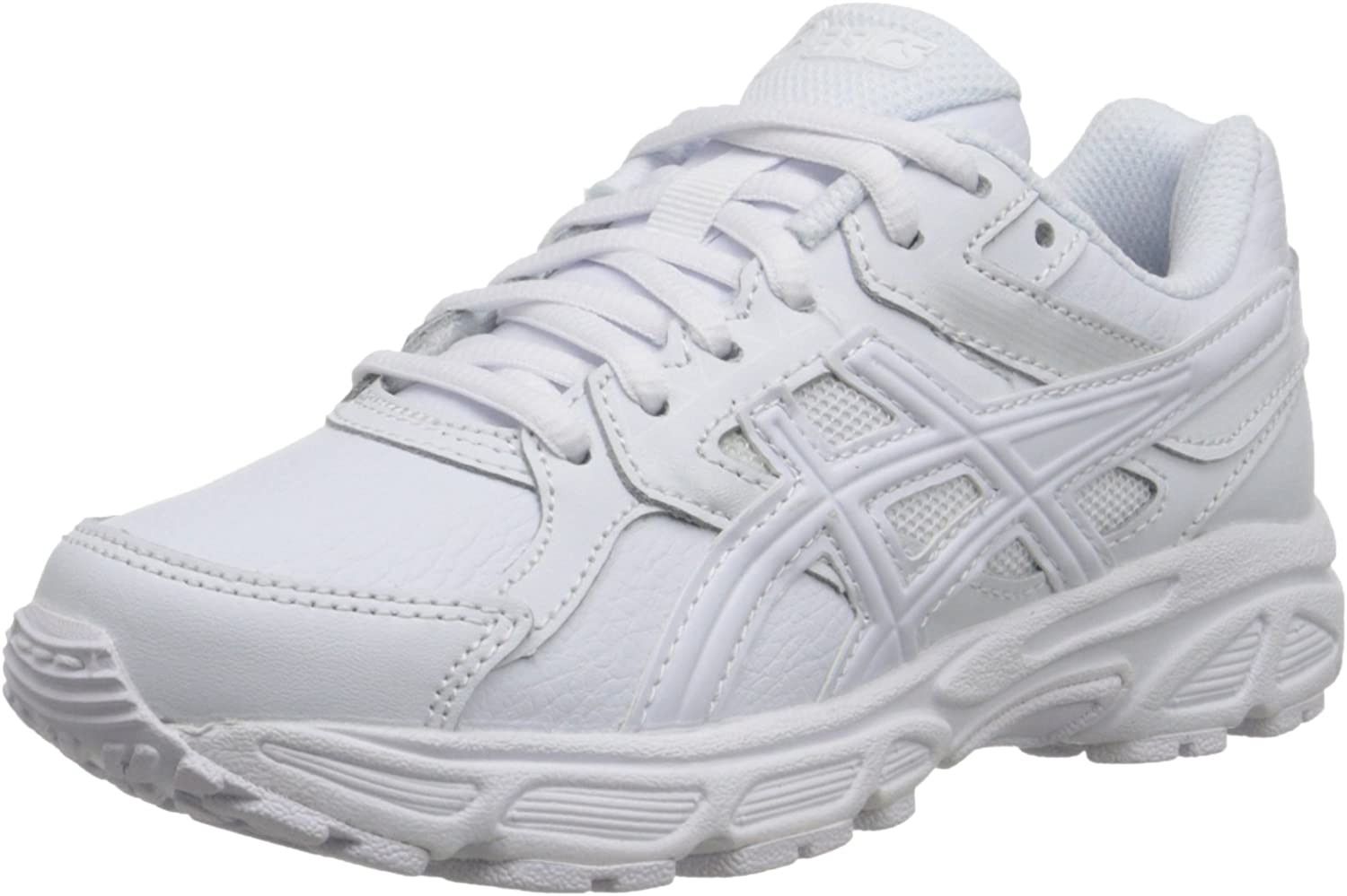 ASICS Zapatillas para correr Gel Contend 3 GS SL (Ni?o peque?o / Ni?o grande), Triple / Blanco / Nieve, 6,5 M US Big Kid: Amazon.es: Zapatos y complementos