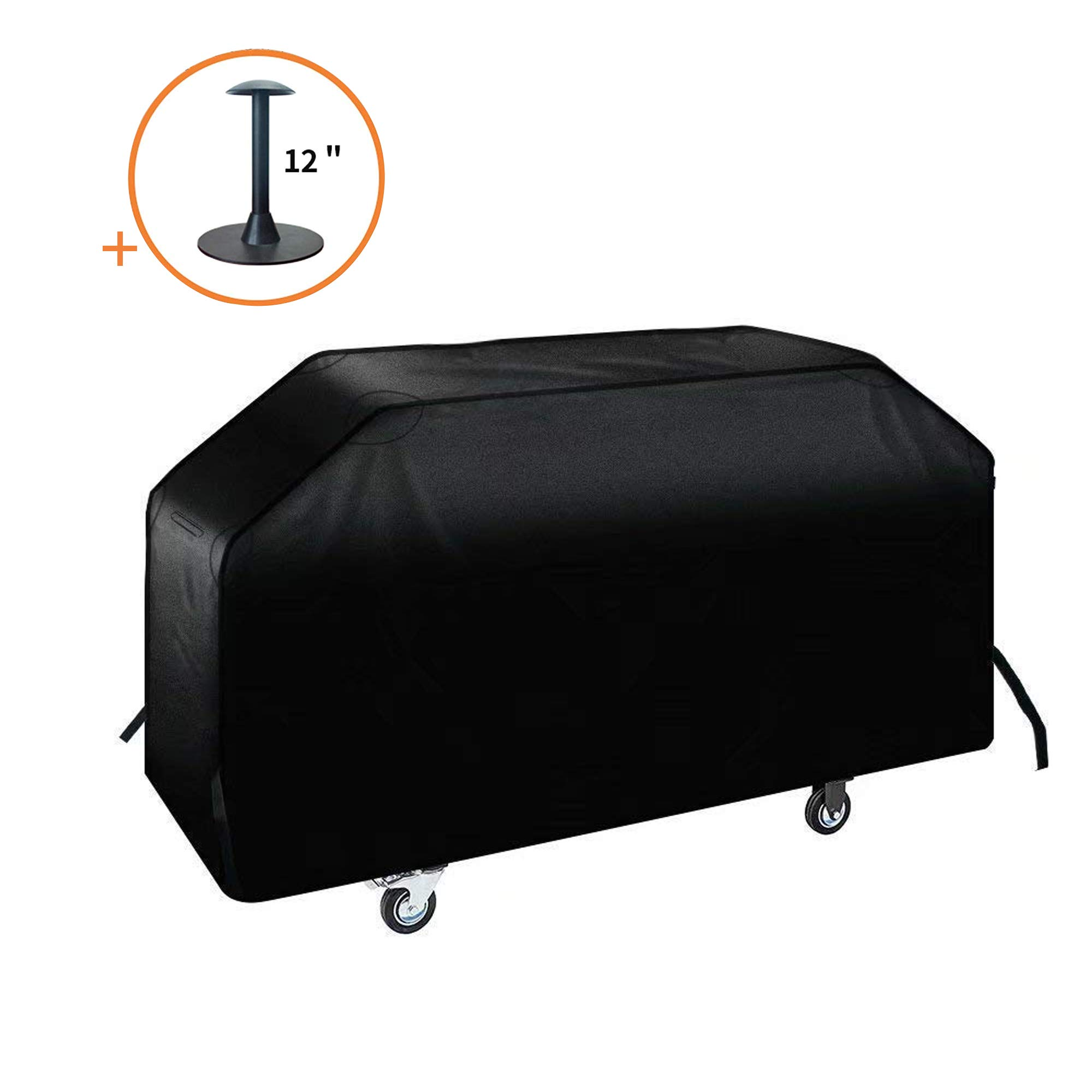 iCOVER 36 inch Griddle Cover, 600D Heavy Duty Waterproof Canvas Flat Top Gas Grill Cover for Blackstone 36'' Griddle Cooking Station Camp Chef 600 Barbecue Cover with Support Pole by i COVER