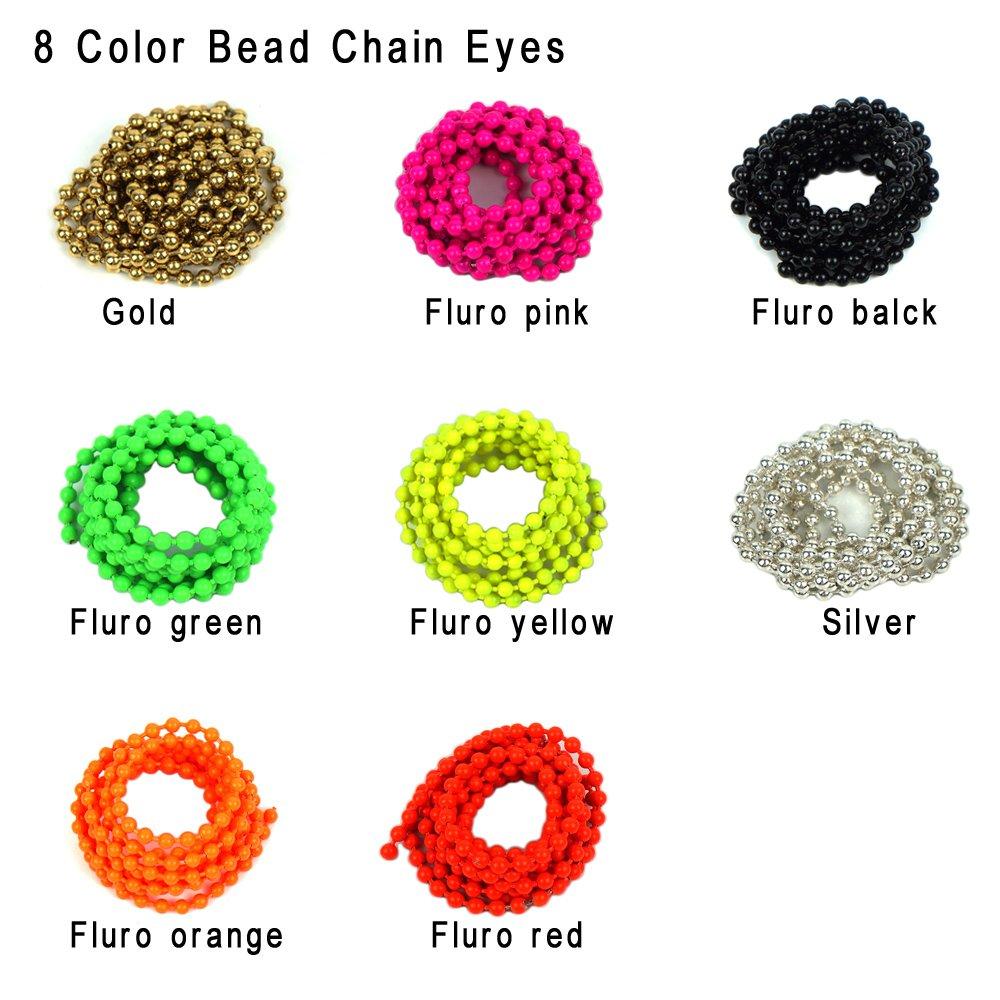 Amazon.com: riverruns 8 Color cadena de abalorios ojos Combo ...