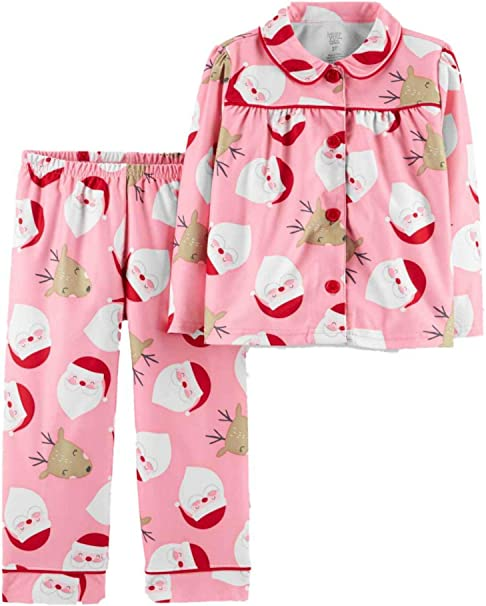 Simple Joys by Carters Baby and Toddler Girls 2-Piece Coat Style Pajama Set