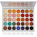 Beauty Glazed Pigmented Matte and Shimmer 35 Colors Chunky Eyeshadow Palette Pop Colors Blendable Eye Shadow Powder Make Up Waterproof Eye Shadow Palette Cosmetics
