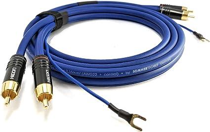 Cable cinch apantallado de 2 vías de 3m 2x 0,35mm² con cable de ...