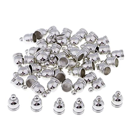 Bulk NEW End Cap Beads Stoppers DIY Fit 4mm Leather Cords Jewelry Making 20Pcs