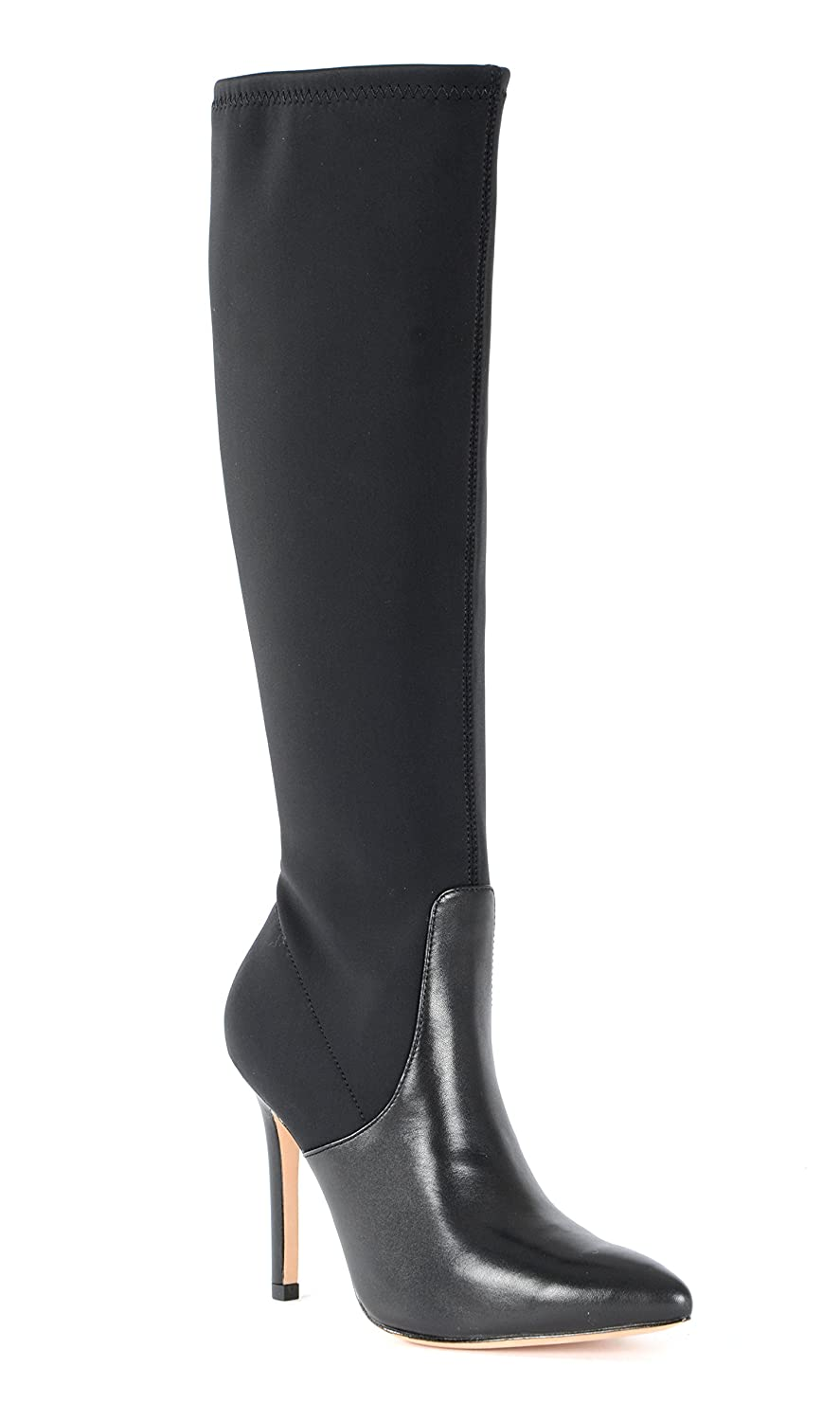 Halston Heritage Melissa Lycra and Leather Boot